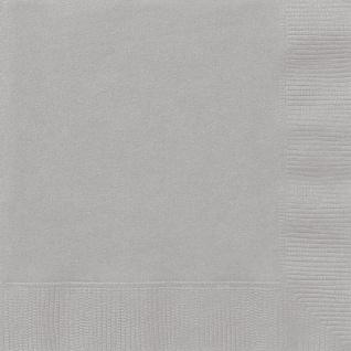 20 Servietten Silber Grau
