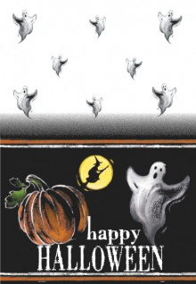 Halloween Tischdecke Kürbis Geister - Vorschau 1