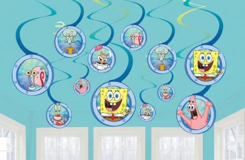 12 hängende Swirl Girlanden SpongeBob