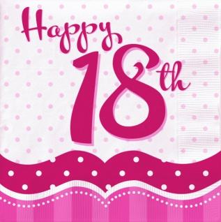 58 Teile zum 18. Geburtstag Party Set Perfectly Pink für 16 Personen - Vorschau 4