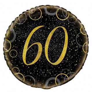60. Geburtstag Folien Ballon Schwarz Gold