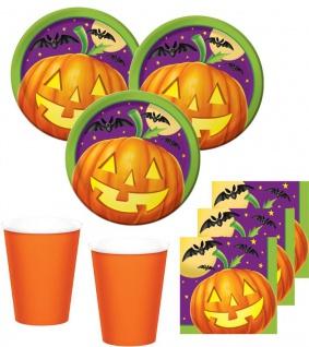 32 Teile kleines Fingerfood Halloween Deko Set Kürbis Licht 8 Kinder