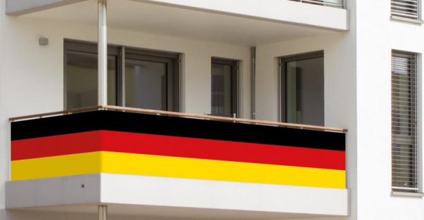 Balkonumrandung Deutschland Flagge