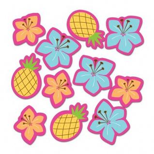 Ananas und Hibiskus Blüten Papier Konfetti