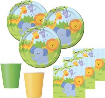 48 Teile Dschungel Freunde Party Deko Set für 16 Kinder