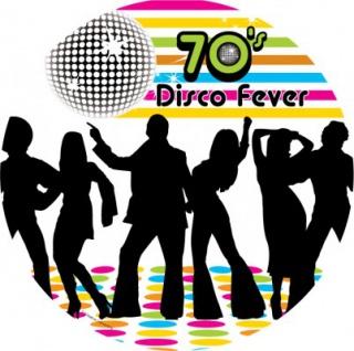 70er Jahre Motto Party Teller