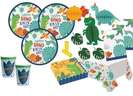 XL 51 Teile kleine Dino Freunde Kindergeburtstags Party Set für 8 Kinder