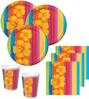 32 Teile Sommer Party Deko Set Aloha Summer 8 Personen - Vorschau 1