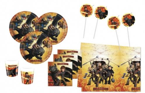 71 Teile Dragons Party Deko Set für 16 Kinder