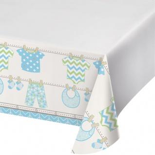 Baby Party Pastell Blau Tischdecke