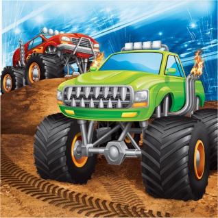 16 Servietten Monster Truck Rallye