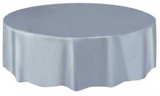 Runde Plastik Tischdecke Silbergrau