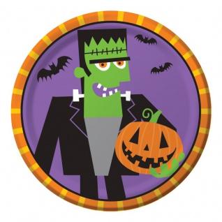 8 kleine Halloween Teller Frankensteins Freunde