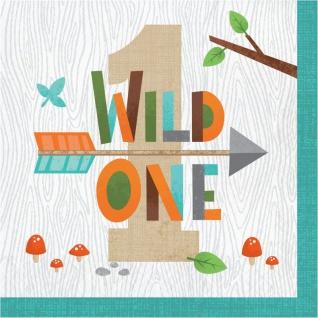 16 Servietten zum 1. Geburtstag kleine Waldtiere