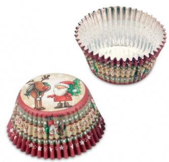 50 Alu Muffin Förmchen Weihnachten