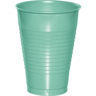 20 Plastik Becher Mint 350 ml