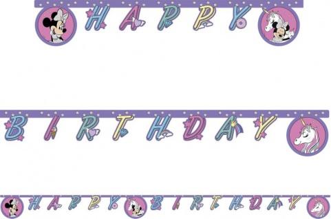 Geburtstags Girlande Minnie Maus Einhorn