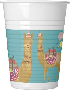 8 Becher Lama Party