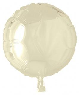 Folienballon Rund Champagner oder Creme 45cm