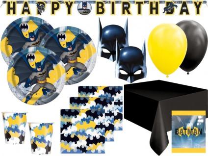 XL 70 Teile Batman Superhero Party Deko Set 8 Kinder