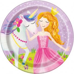 8 kleine Teller Märchen Prinzessin