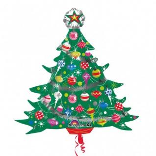 Folien Ballon mit Metallic Effekt Weihnachtsbaum - Vorschau