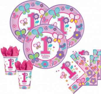 48 Teile Erster Geburtstag Sweet Girl Party Deko Set 16 Personen