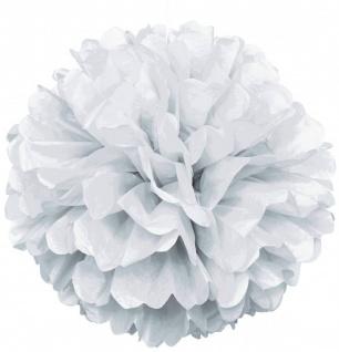 1 großer Papier Dekoball Weiß - Vorschau 1