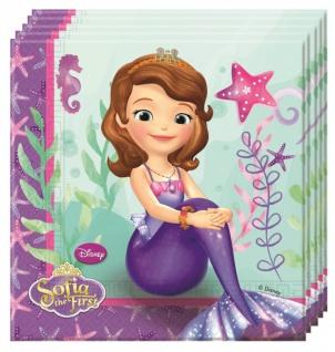 20 Servietten Prinzessin Sofia und die Meerjungfrauen
