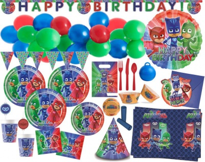 XXL 150 Teile PJ Masks Party Deko Set 6 Kinder mit Ballongirlande