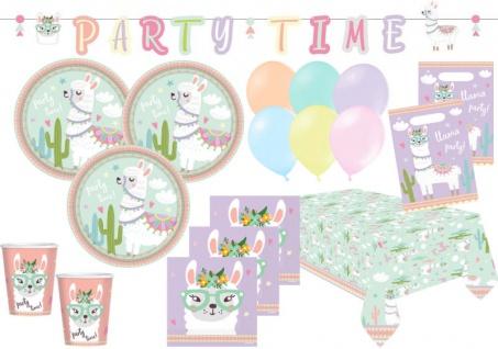 XL 52 Teile Lama Party Deko Set für 8 Kinder