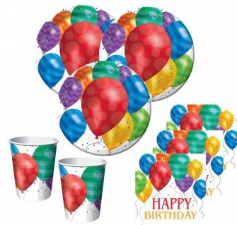 48 Teile bunte Ballons Geburtstags Party Deko Set für 16 Personen