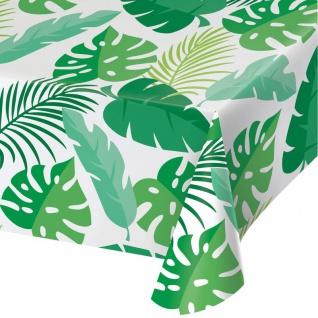 Plastik Tischdecke Monstera Dschungel Blätter