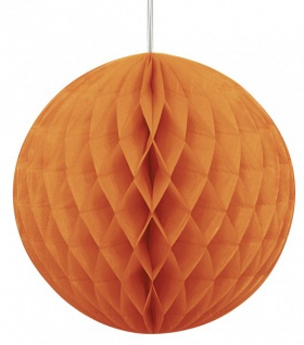 Wabenball rund Orange
