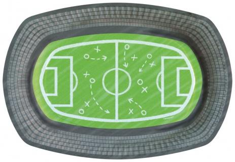 6 Fußball Papp Teller Kicker Party in Stadion Form