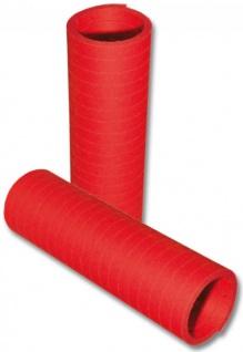 Papier Luftschlangen in Rot - 1 Rolle a 20 Wurf flammensicher