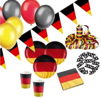 XXL 69 Teile Deutschland Party Deko Basis Set 8 Personen