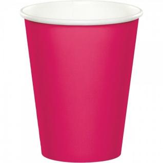 36 Teile Party Deko Set Pink Magenta für 8 Personen - Vorschau 4