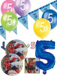 57 Teile 5. Geburtstag Spiderman Party Deko Set für 8 Kinder