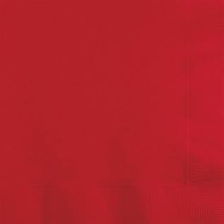 20 Servietten Klassisch Rot