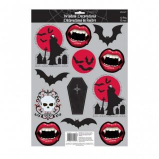 Halloween Fensterbild Vampir