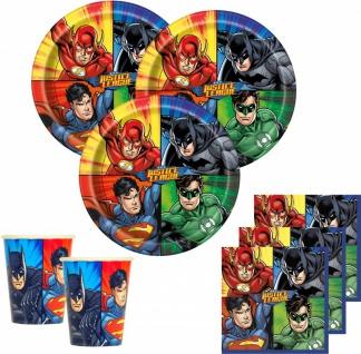32 Teile Justice League Superhelden Party Deko Basis Set - für 8 Kinder