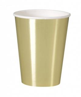32 Teile Party Deko Set Gold Glanz für 8 Personen - Vorschau 3