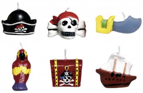 6 Piraten Kuchen Kerzen