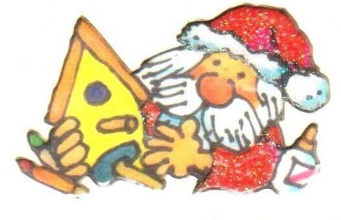 Bastelnder Weihnachtsmann Mini Sticker - ItSticks