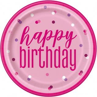 32 Teile 50. Geburtstag Pink Dots Party Set 8 Personen - Vorschau 2