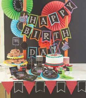 16 kleine Geburtstags Servietten Kreidetafel - Vorschau 3