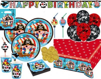 XL 90 Teile Piraten Abenteuer Party Deko Set 8 Kinder