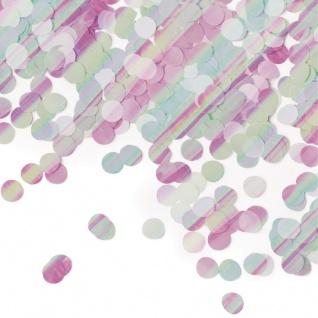 Glitzer Konfetti Kreise Irisierend