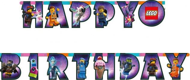 Geburtstags Girlande Lego Movie 2 Abenteuer im Weltraum